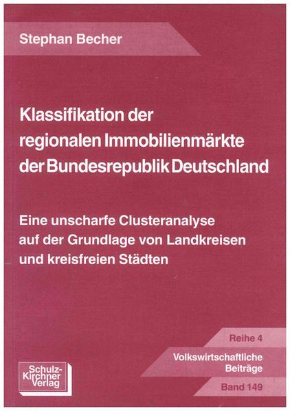 Klassifikation der regionalen Immobilienmärkte der Bundesrepublik Deutschland - Coverbild