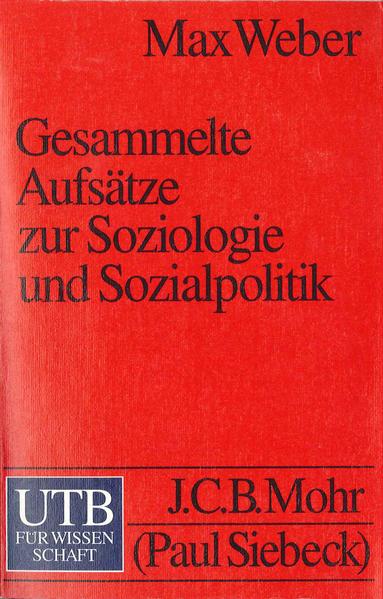 Gesammelte Aufsätze zur Soziologie und Sozialpolitik - Coverbild