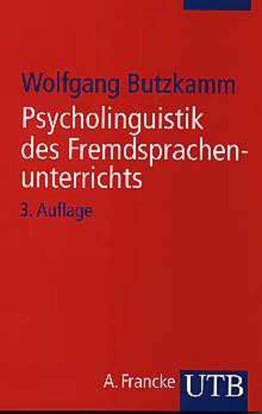 Psycholinguistik des Fremdsprachenunterrichts - Coverbild
