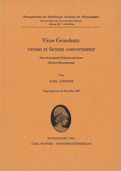 Vicos Grundsatz: verum et factum convertuntur - Coverbild