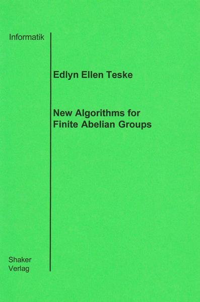 New Algorithms for Finite Abelian Groups - Coverbild