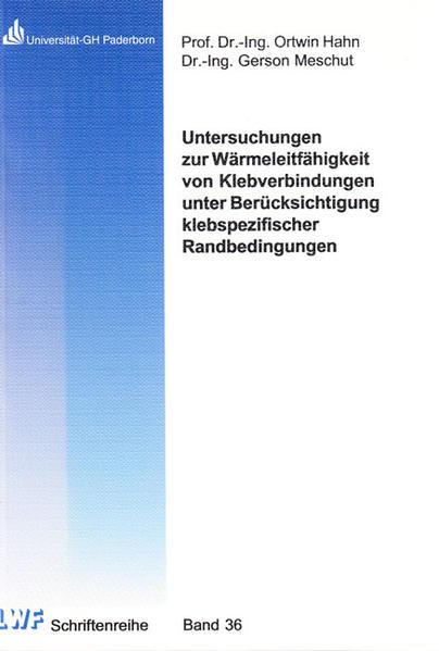 Untersuchungen zur Wärmeleitfähigkeit von Klebverbindungen unter Berücksichtigung klebspezifischer Randbedingungen - Coverbild