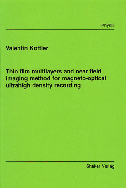 Thin film multilayers and near field imaging method for magneto-optical ultrahigh density recording - Coverbild