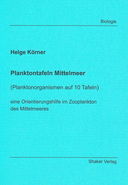 Planktontafeln Mittelmeer - Coverbild