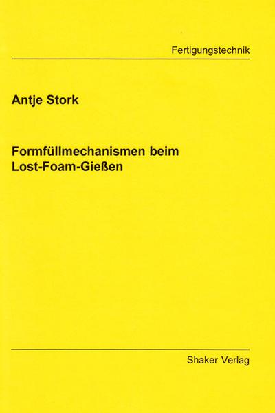 Formfüllmechanismen beim Lost-Foam-Gießen - Coverbild