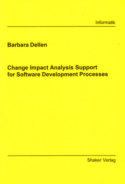 Change Impact Analysis Support for Software Development Processes - Coverbild