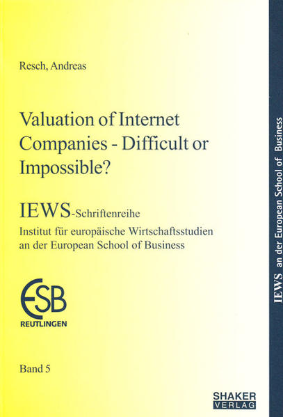 Valuation of Internet Companies - Difficult or Impossible? - Coverbild