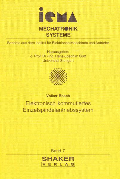 Elektronisch kommutiertes Einzelspindelantriebssystem - Coverbild