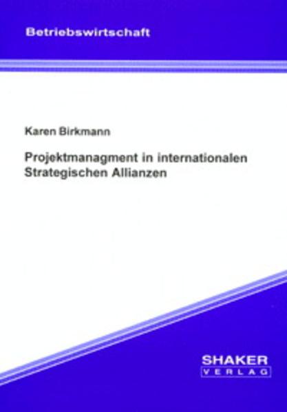 Projektmanagment in internationalen Strategischen Allianzen - Coverbild