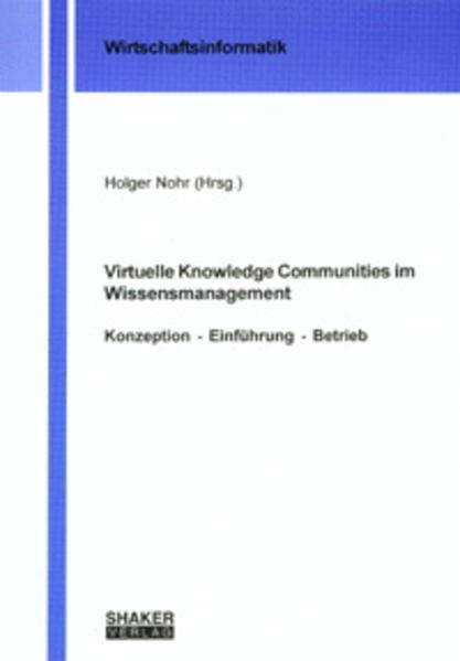 Virtuelle Knowledge Communities im Wissensmanagement - Coverbild