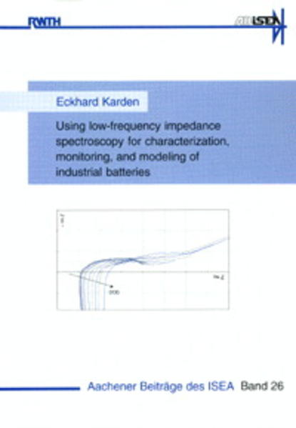 Using low-frequency impedance spectroscopy for characterization, monitoring, and modeling of industrial batteries - Coverbild
