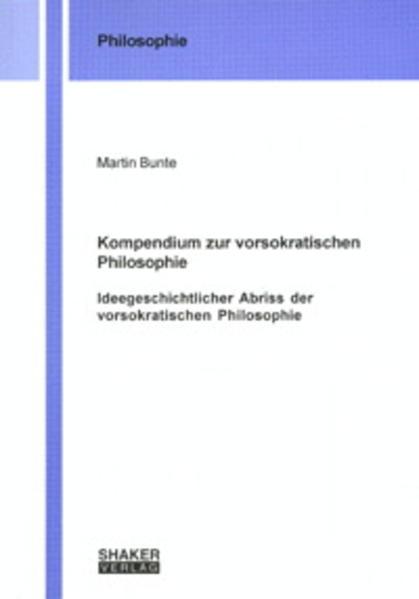 Kompendium zur vorsokratischen Philosophie - Coverbild