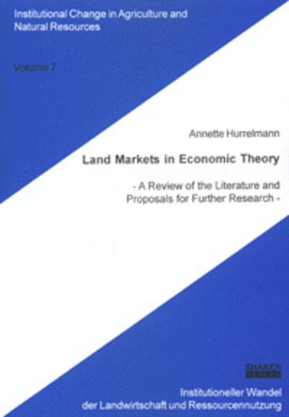 Land Markets in Economic Theory - Coverbild