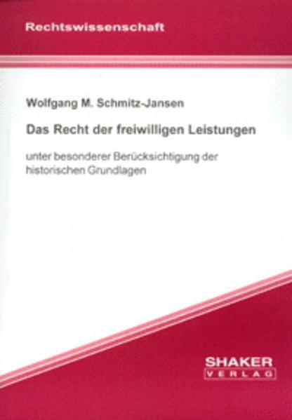 Das Recht der freiwilligen Leistungen - Coverbild