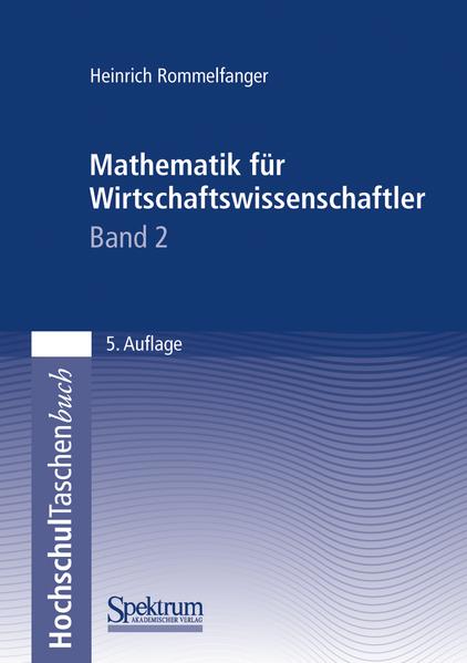 Mathematik für Wirtschaftswissenschaftler II - Coverbild