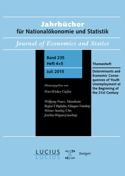 Determinants and Economic Consequences of Youth Unemployment at the Beginning of the 21st Century - Coverbild