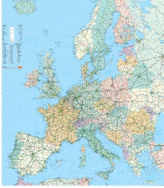 Europa Strassenkarte Poster - Coverbild