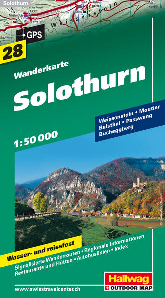 Solothurn / Weissenstein / Passwang Wanderkarte - Coverbild