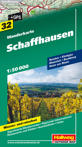 Schaffhausen Wanderkarte - Coverbild