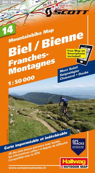 Biel-Bienne, Franches Montagnes Mountainbike- Karte - Coverbild