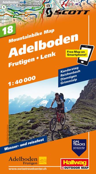 Adelboden Frutigen Lenk, Mountainbike-Karte - Coverbild