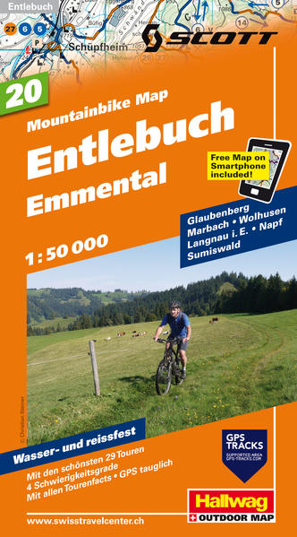 Entlebuch, Emmental Mountainbike-Karte - Coverbild
