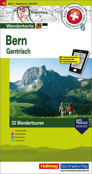 Bern Tourenwanderkarte - Coverbild