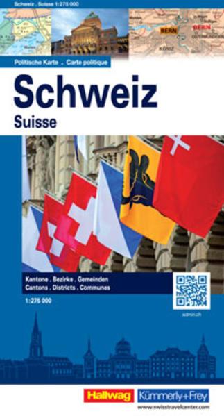 Schweiz, Politische Karte (HKF) - Coverbild