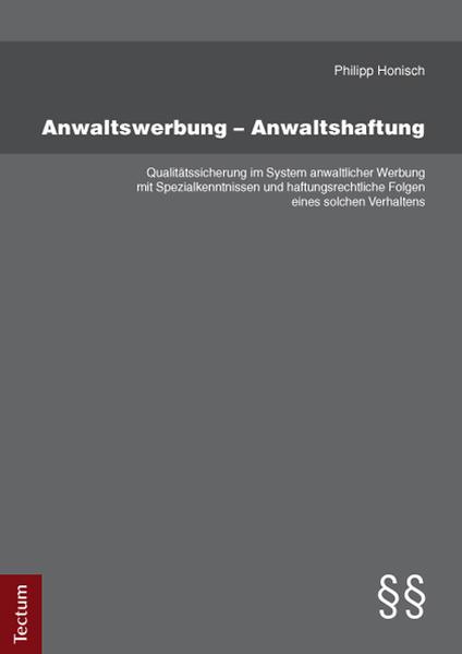 Anwaltswerbung – Anwaltshaftung - Coverbild