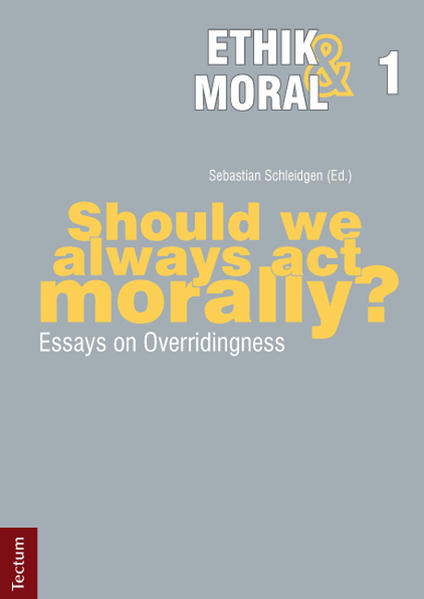 Should we always act morally? - Coverbild
