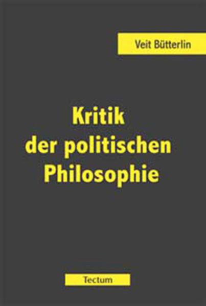Kritik der politischen Philosophie - Coverbild