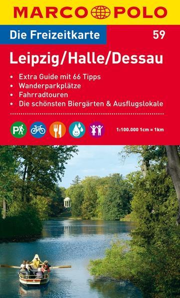 MARCO POLO Freizeitkarte Blatt 59 Leipzig, Halle, Dessau 1:100 000 - Coverbild