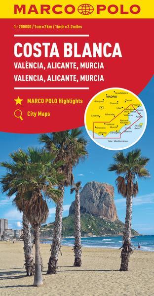 MARCO POLO Karte Costa Blanca, Valencia, Alicante, Castellón, Murcia 1:200 000 - Coverbild