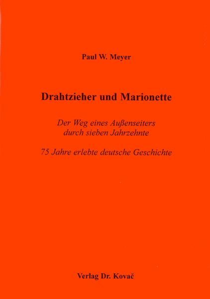 Drahtzieher und Marionette - Coverbild