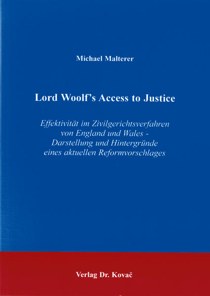 Lord Woolf's Access to Justice - Coverbild