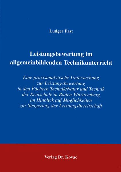 Leistungsbeurteilung im allgemeinbildenden Technikunterricht - Coverbild