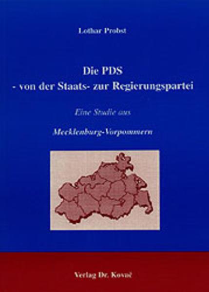 Die PDS - Von der Staats- zur Regierungspartei - Coverbild