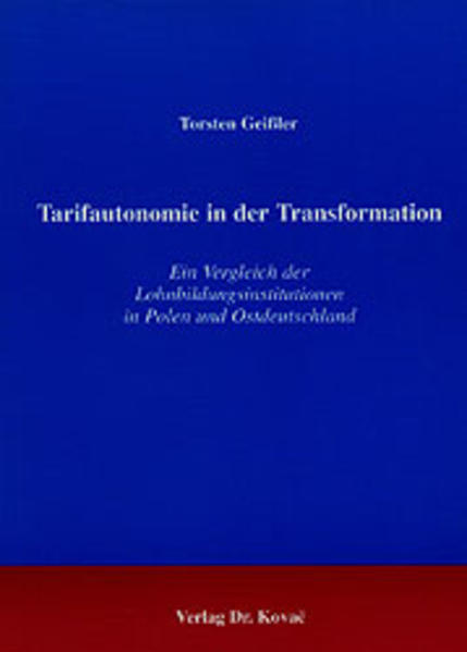 Tarifautonomie in der Transformation - Coverbild