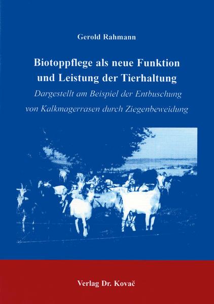 Biotoppflege als neue Funktion und Leistung der Tierhaltung - Coverbild