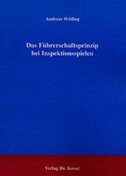 Das Führerschaftsprinzip bei Inspektionsspielen Epub Free Herunterladen
