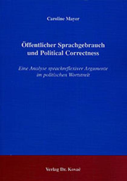 Öffentlicher Sprachgebrauch und Political Correctness - Coverbild