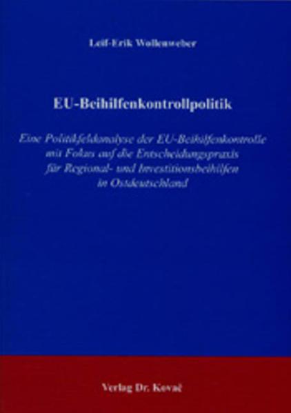 EU-Beihilfenkontrollpolitik - Coverbild