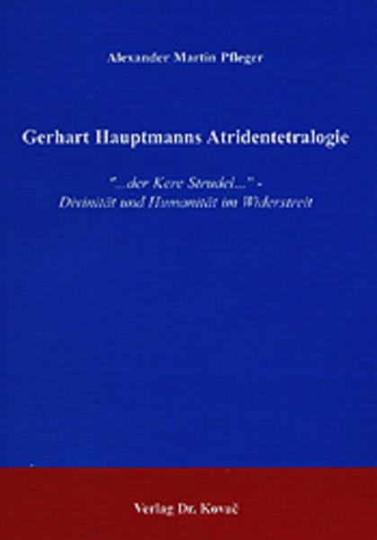 Gerhart Hauptmanns Atridentetralogie - Coverbild