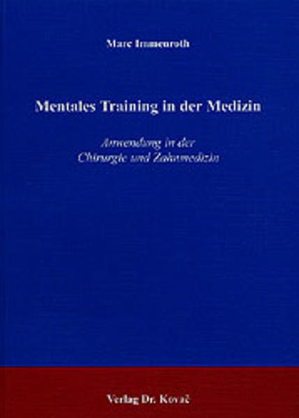 Mentales Training in der Medizin - Coverbild
