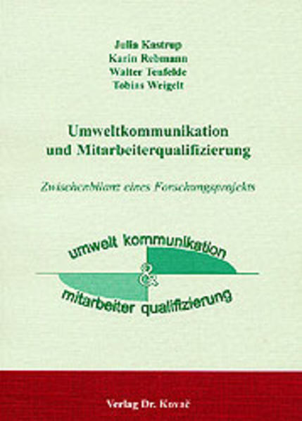 Umweltkommunikation und Mitarbeiterqualifizierung - Coverbild