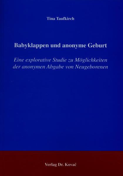 Babyklappen und anonyme Geburt - Coverbild