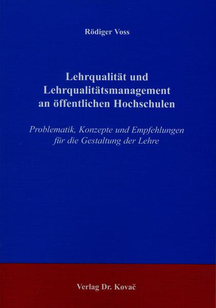 Lehrqualität und Lehrqualitätsmanagement an öffentlichen Hochschulen - Coverbild