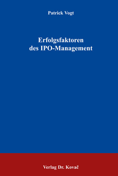 Erfolgsfaktoren des IPO-Managements - Coverbild