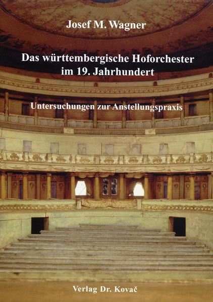 Das württembergische Hoforchester im 19. Jahrhundert - Coverbild