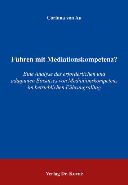 Führen mit Mediationskompetenz? - Coverbild